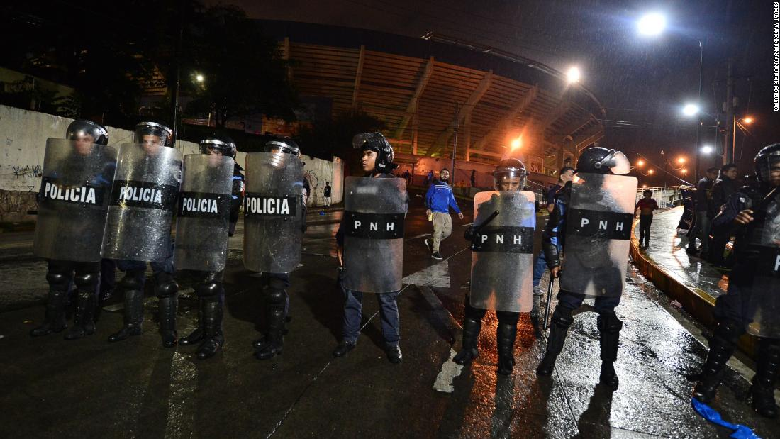 Honduras football riots leave three dead and three players injured