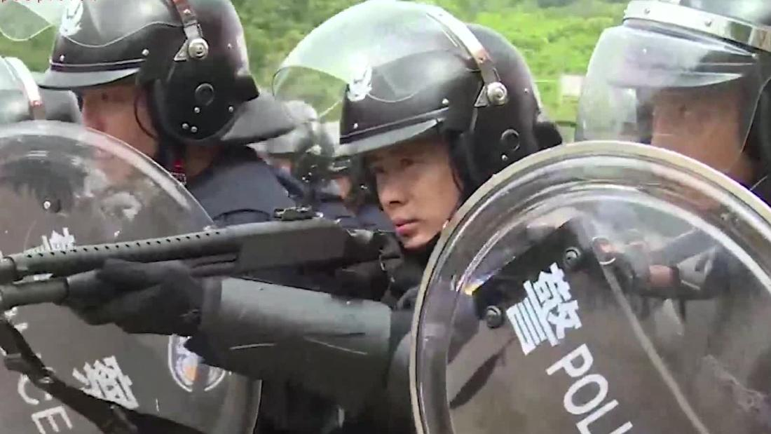 China releases police training video amid HK protests