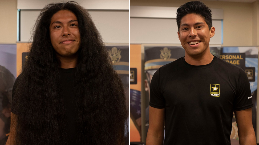 He got his first haircut in 15 years so he could join the Army