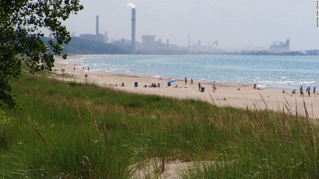 A chemical spill near Lake Michigan leaves beaches closed and hundreds of fish dead