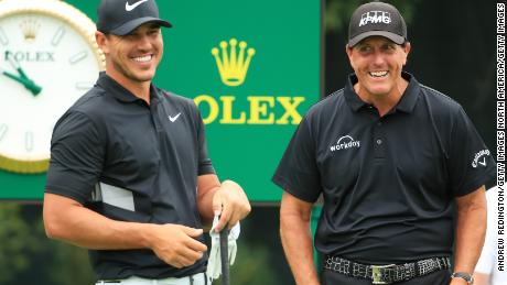 Phil Mickelson played his final round at the BMW Championship with the in-form Brooks Koepka but neither of them threatened the lead in the tournament.