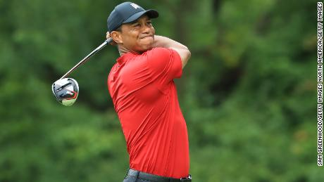 Tiger Woods was unable to produce a sustained charge to challenge for a place in the Tour Championship at East Lake next week.