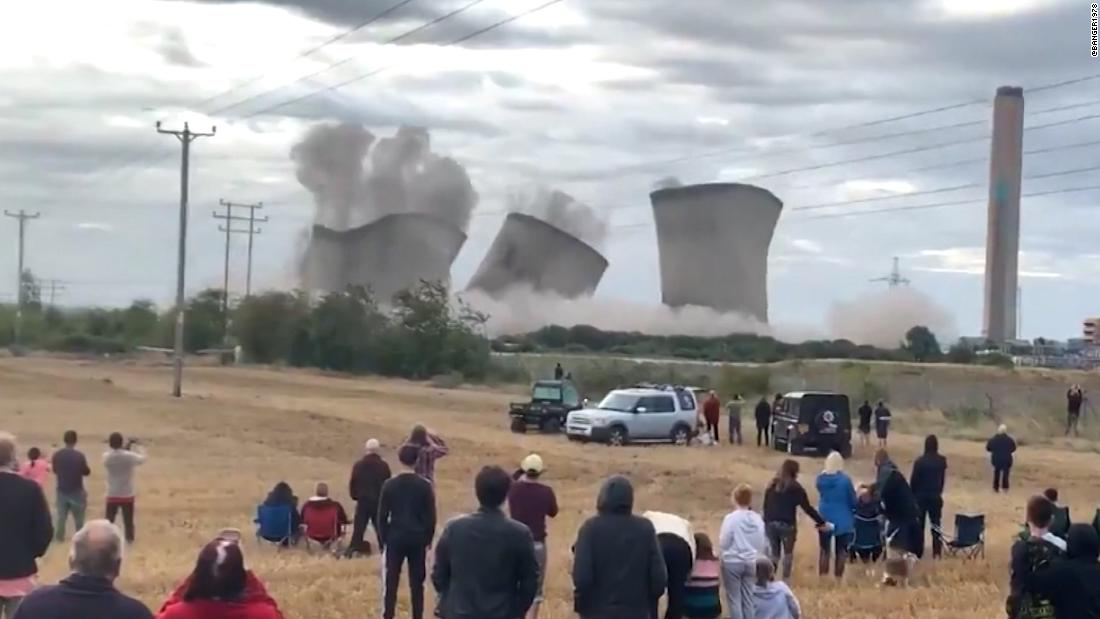Power plant implosion knocks out power to thousands
