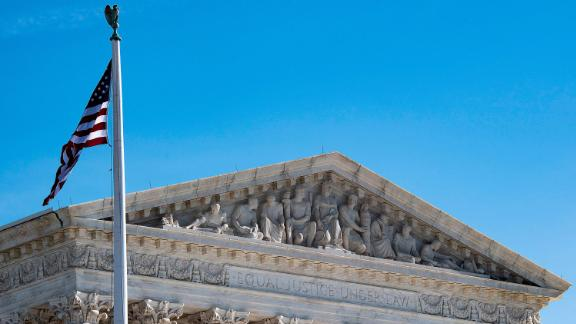 In this file photo taken on January 22, 2019 the US Supreme Court is seen in Washington, DC.