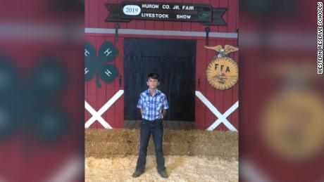 Diesel Pippert, a 12-year-old from Huron County, Ohio, auctioned off a pig for $15,000 at a county fair on Saturday. He'll donate his winnings to St. Jude Children's Research Hospital.