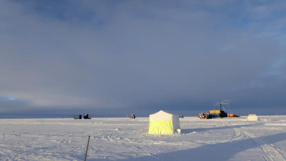 Researchers took about 1,100 pounds of snow from Antarctica and tested it for space dust.
