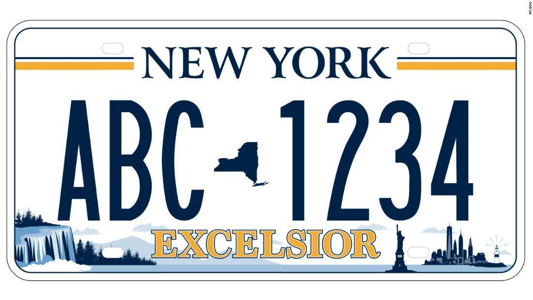 Excelsior! New York license plate design shows more than Manhattan