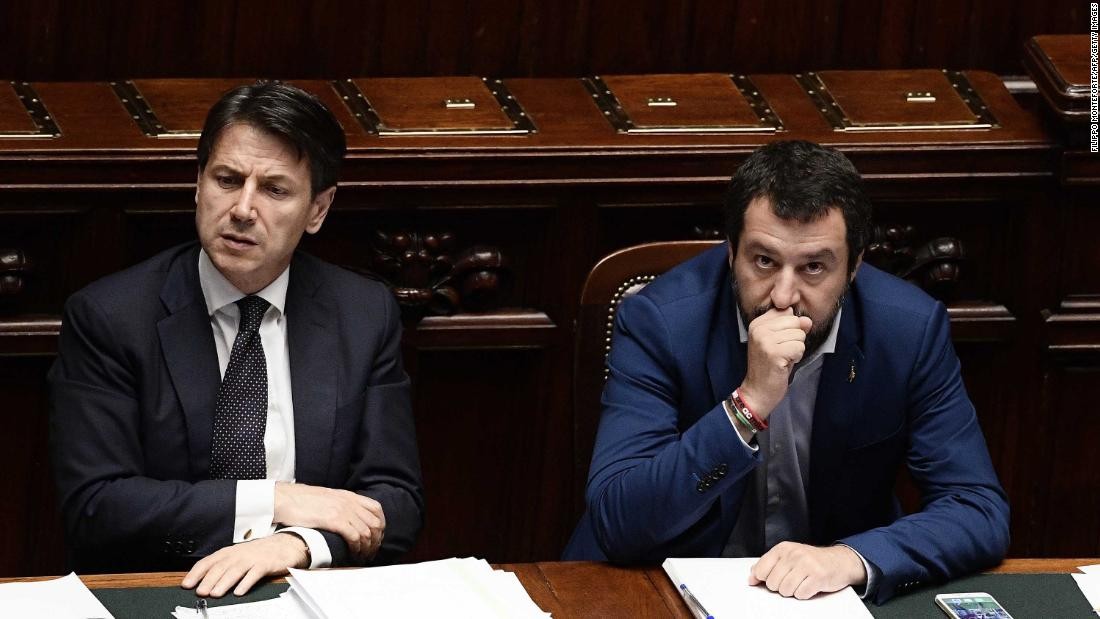 Italy's Prime Minister Giuseppe Conte says he'll resign, attacks Salvini as 'irresponsible'