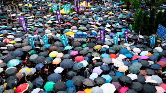 Hong Kong has been hit by several months of protests that began over a now-withdrawn extradition bill.