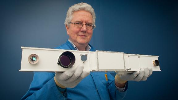 PanCam Engineering Model held by Prof Andrew Coates, PanCam Principal Investigator, UCL-MSSL.