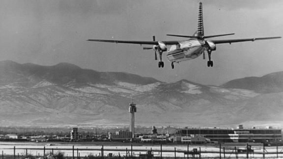 The Stapleton airport, in 1965