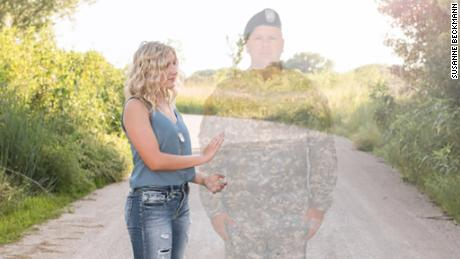 "Photographer Susanne Beckmann says that editing Julias Yllescas's father into her senior photos was another way Yllescas can ""remember her father's legacy."""