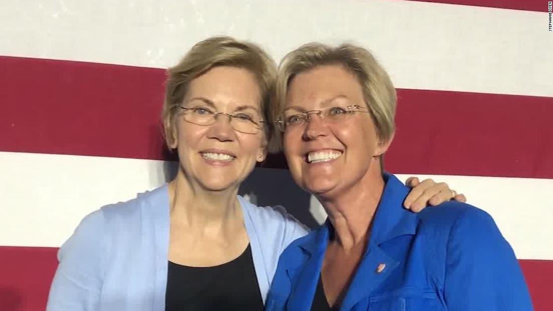 Warren look-alike has supporters seeing double