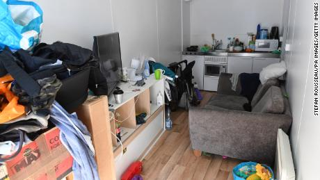 The west London home of Corelle Tertullien, 26, where she lives with her two children aged two and nine months.