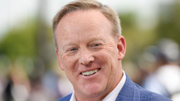 In this August 1, 2018 file photo, Sean Spicer is seen at Universal Studios Hollywood in Universal City, California.
