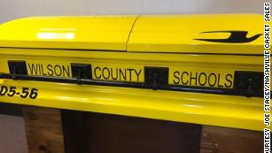 A longtime school bus driver was laid to rest in a special casket: a school bus