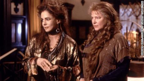 "Stockard Channing and Dianne Wiest as Aunt Frances and Aunt Jet in the 1998 film ""Practical Magic."""