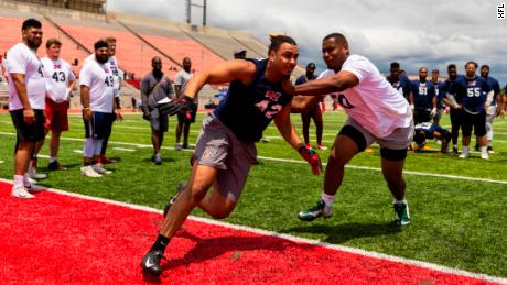 The XFL summer showcase in Los Angeles