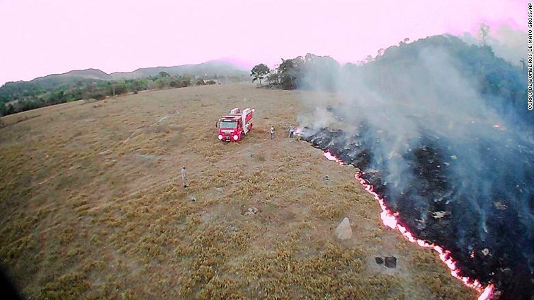 Một vụ cháy ở bang Mato Grosso của Brazil vào ngày 20 tháng 8