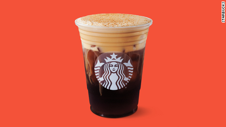 The new Pumpkin Cream Cold Brew from Starbucks.