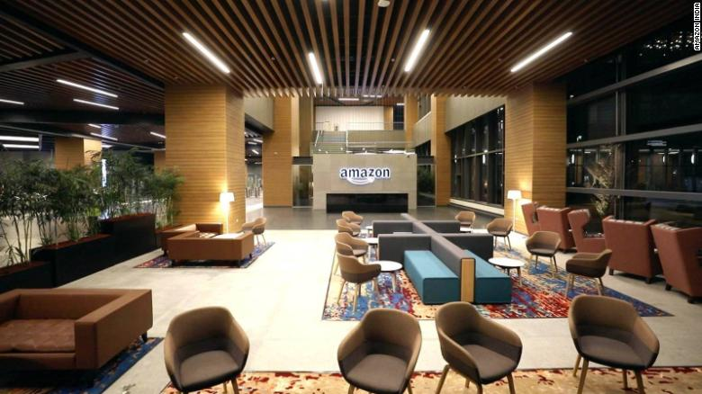 The new Amazon office buildings in Hyderabad can accommodate up to 15,000 employees.