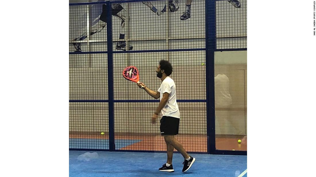 Mo Salah, Liverpool forward and reigning African footballer of the year, enjoys a relaxed session in one of the indoor arenas on 18 July.