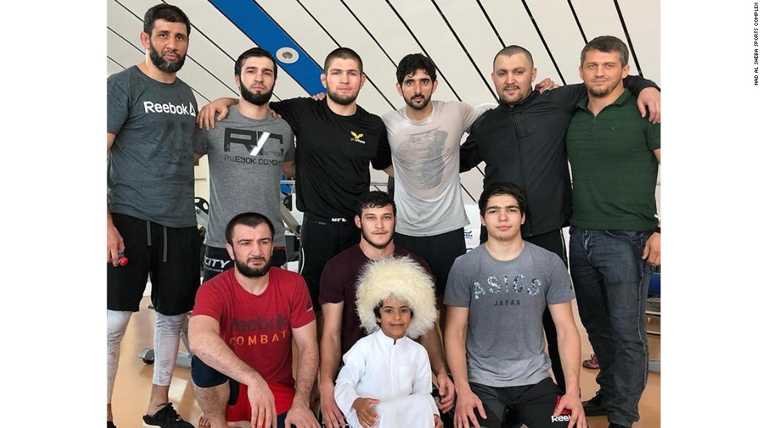 The NAS complex accommodates a wide variety of sportspeople. UFC champion Khabib Nurmagomedov visited with his family on 15 February.