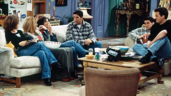 """FRIENDS -- """"The One After the Superbowl"""" (Part 1) Episode 12 -- Pictured: (l-r) Matt LeBlanc as Joey Tribbiani, Karman Kruschke as Coma Woman, Roark Critchlow as The Doctor  (Photo by Brian D. McLaughlin/NBC/NBCU Photo Bank via Getty Images)"""
