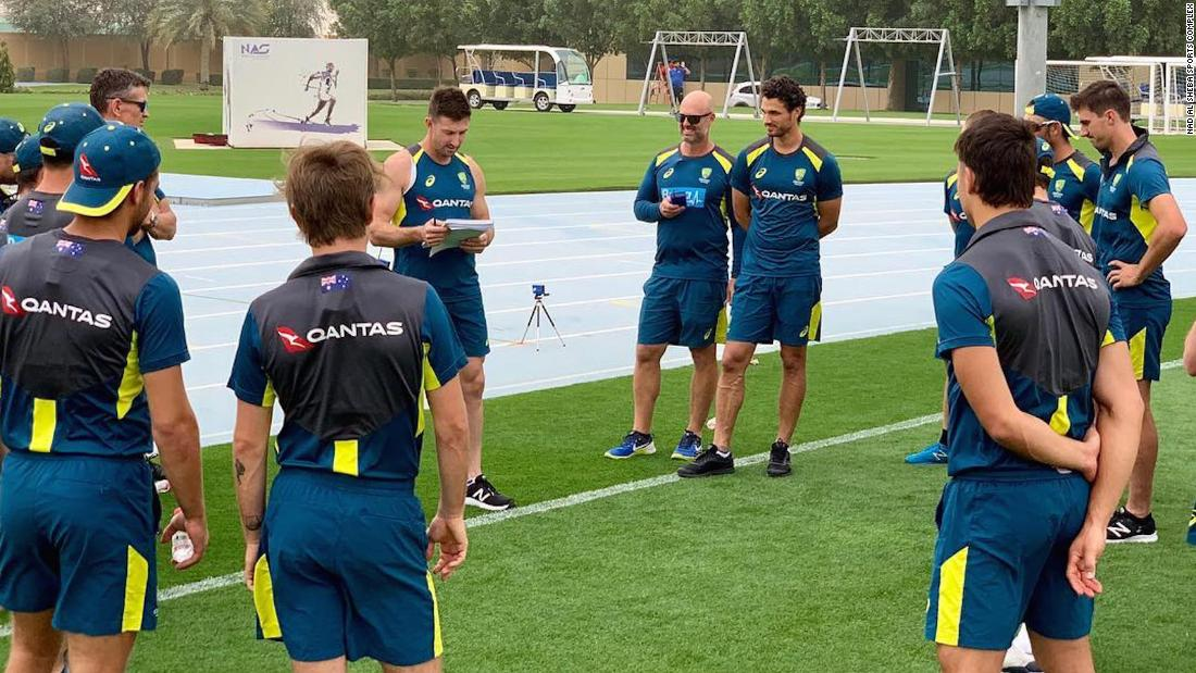 The Australian cricket team going through their final tests and preparations on 17 March, ahead of the World Cup in England.