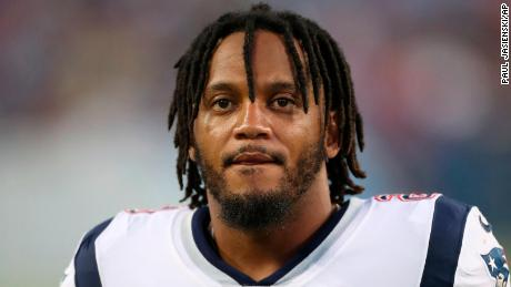 Patriots defensive back Patrick Chung during a game against the Tennessee Titans.