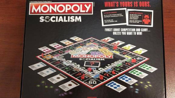 Monopoly Socialism, manufactured by the toy company Hasbro, is a parody of the classic board game.