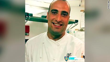 This photo provided by NYPD shows Andrea Zamperoni.   Police are investigating the disappearance of Zamperoni, a chef at a popular restaurant in New York's Grand Central Terminal who's been missing since last weekend.  Zamperoni was reported missing after he didn't report for work as the head chef at Cipriani Dolce in Grand Central on Monday, Aug. 19, 2019. Restaurant manager Fernando Dallorso tells the New York Post that Zamperoni was last seen by his roommates in Queens on Saturday. (NYPD via AP)