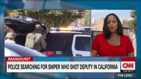 Manhunt underway for sniper who shot sheriff's deputy outside Los Angeles
