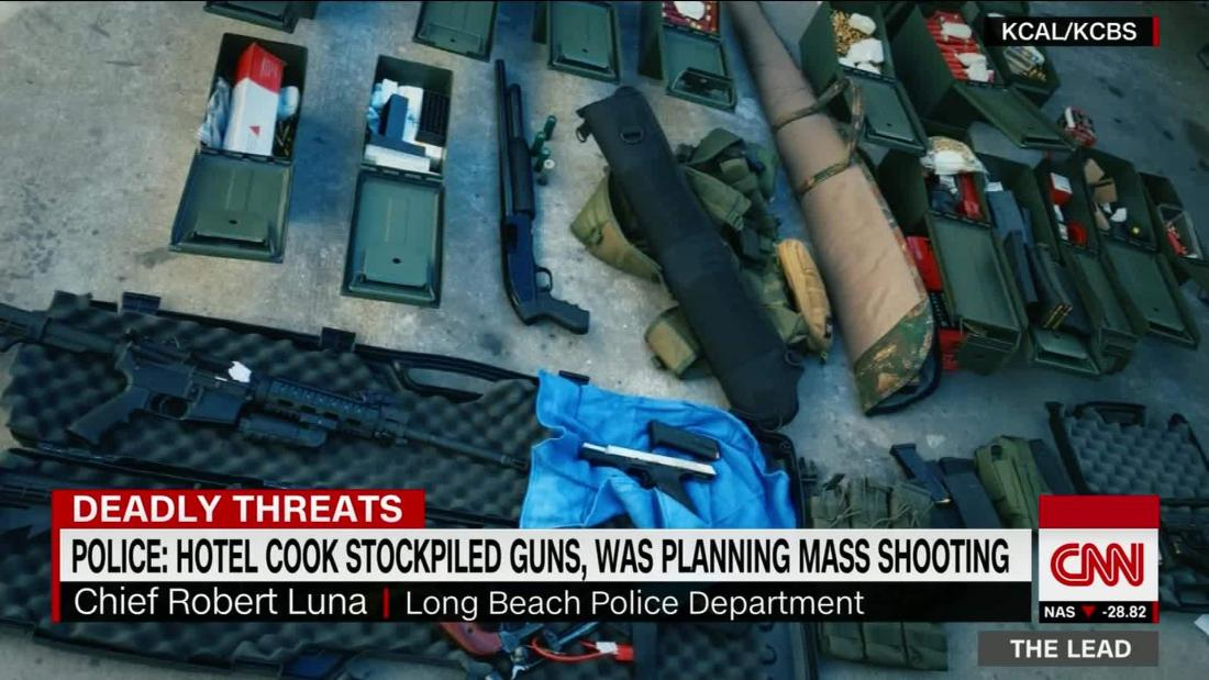Police: Hotel cook stockpiled weapons, planned mass shooting