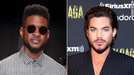 Singers Usher and Adam Lambert are named as victims in the complaint against a real estate agent.