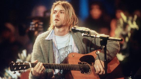 Kurt Cobain of Nirvana during a taping of MTV Unplugged in 1993.