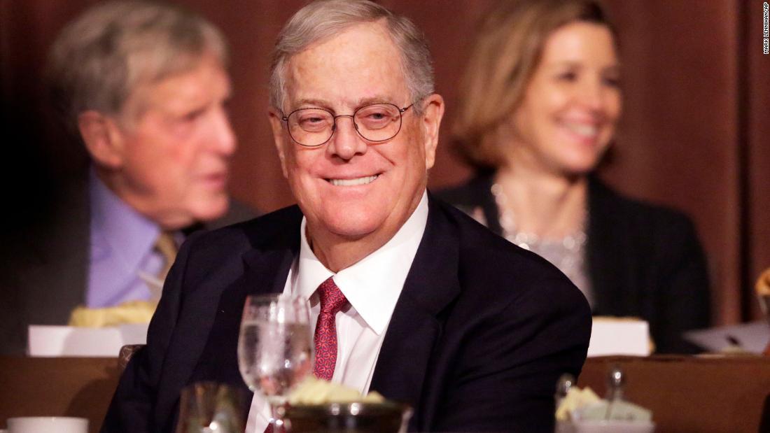 David Koch, billionaire businessman and influential GOP donor, dies