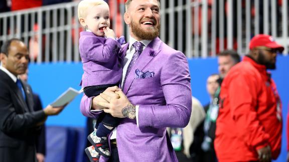 McGregor and Conor McGregor Jr. attend Super Bowl LIII in Atlanta, Georgia.