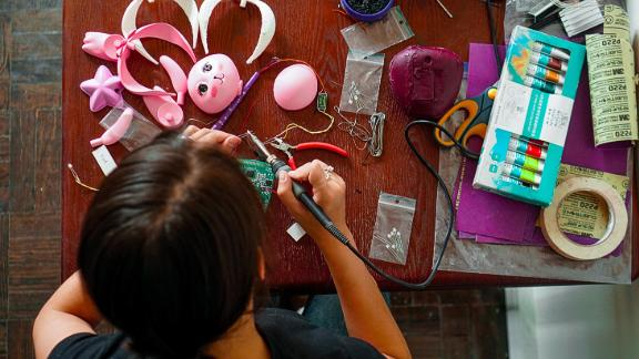 Makosinski has created a range of toys to educate children about renewable energy.