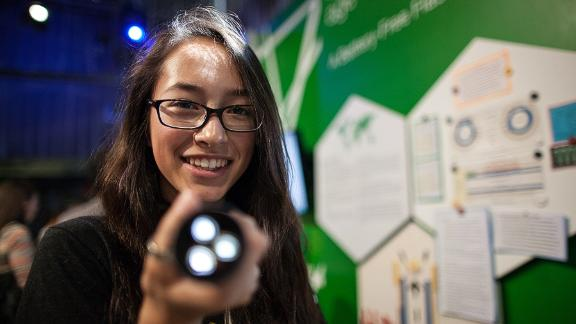 As a teenager, she was described as a child prodigy for inventing a flashlight powered by heat from your hand.