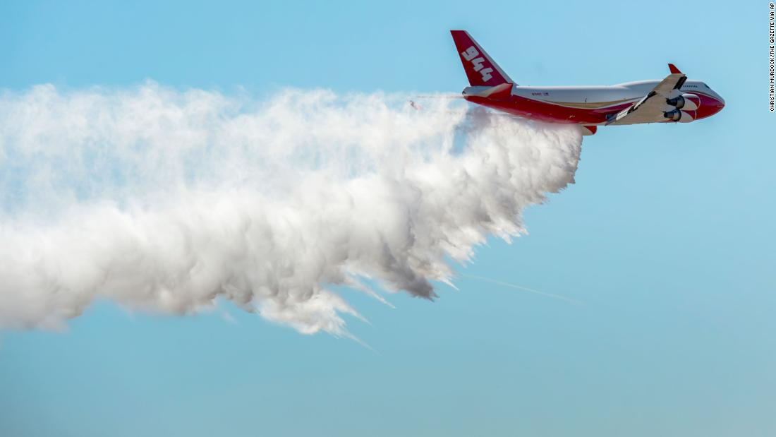 A firefighting Supertanker plane from the US is helping in the Amazon rainforest