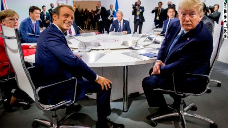 Macron erupted in confusion after inviting Iranian Foreign Minister to the G7 Summit