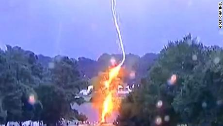 Multiple injured by lightning strike debris in Atlanta