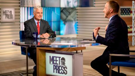 "David McIntosh, Club for Growth President, and moderator Chuck Todd appear on ""Meet the Press"" in Washington, D.C. on Aug. 25, 2019."