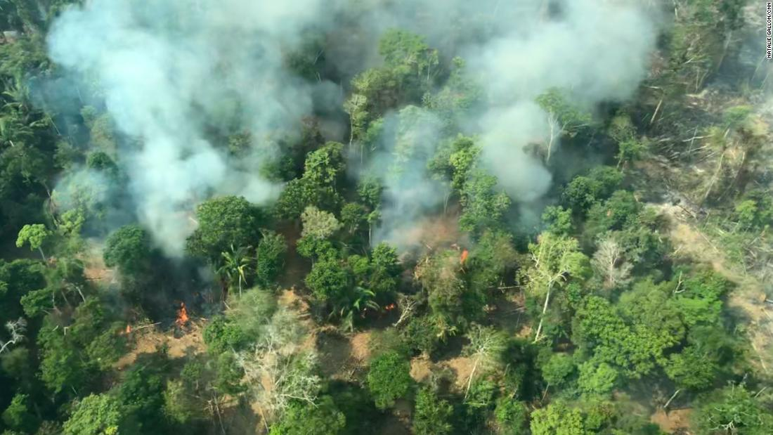 Amazon Forest Fires Massive Damage Visible From Airplane Cnn