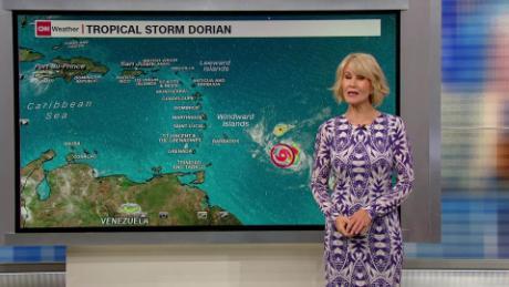 Tropical Strom Dorian tracks toward Puerto Rico
