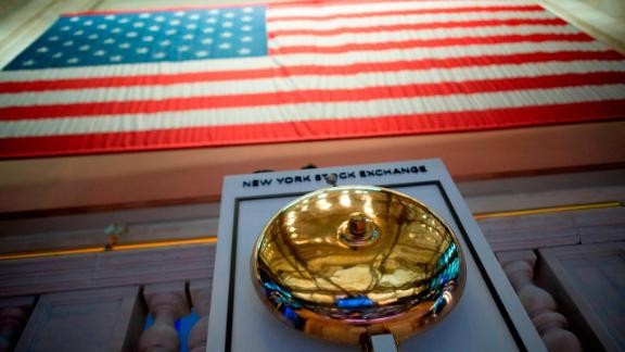The bell is picture at the New York Stock Exchange (NYSE) on August 5, 2019 at Wall Street in New York City. - Selling on Wall Street accelerated early Monday as a steep drop in the Chinese yuan escalated the US-China trade war following President Trump's announcement of new tariffs last week. (Photo by Johannes EISELE / AFP)        (Photo credit should read JOHANNES EISELE/AFP/Getty Images)