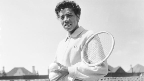 Althea Gibson is pictured in this 1957 image.