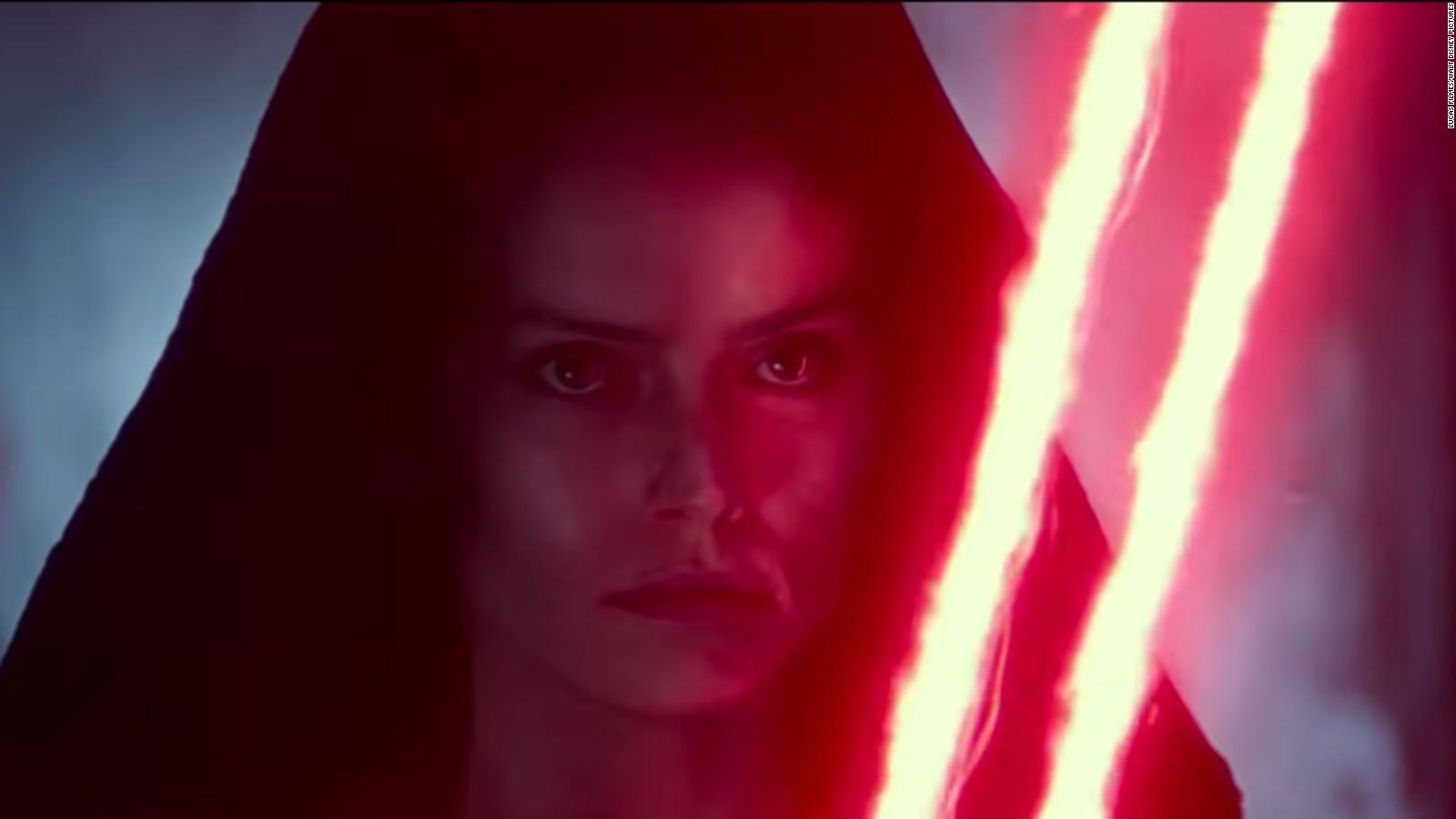 The Rise Of Skywalker D23 Trailer Teases Rey Going To The Dark Side Cnn