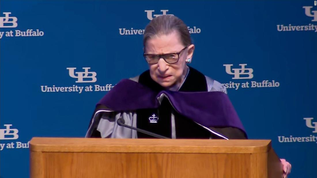 Ginsburg appears strong during first speech since latest cancer revelation
